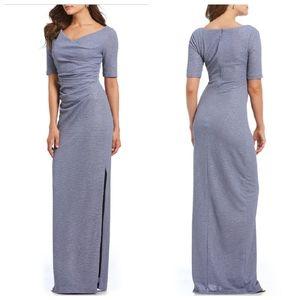 Adrianna Papell 10 Cowl Neck Metallic Gown Dress